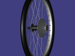 "Small bicycle wheel.  Model downloadable from ""Geometry"""