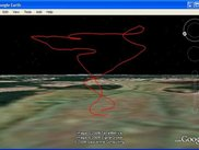 RC plane flight record exported to Google Earth