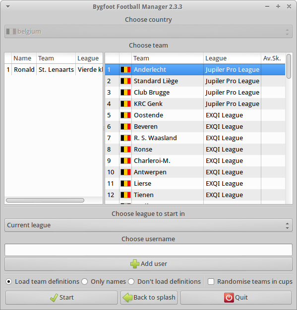 Bygfoot Football Manager download | SourceForge net