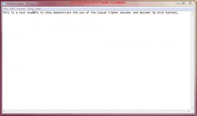 Caesar Cipher Encryptor/Decryptor download   SourceForge net