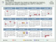 This is the main window using the calender viewer control.