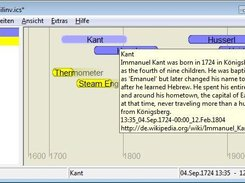 Calizo 0.1.3 on Vista showing event description in tooltip