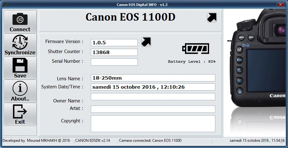 Canon EOS DIGITAL Info download | SourceForge net