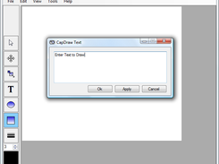 CapDraw Drawing Text dialog