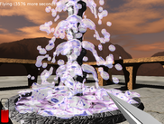 "Fountain in ""the castle"" level"