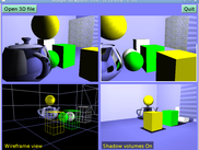 Multiple viewports, with shadow maps, mirrors and such
