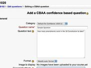 Teacher's view - Creating a CBAA question
