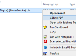 Right click menu Windows Explorer
