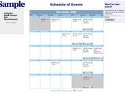 Calander of Events