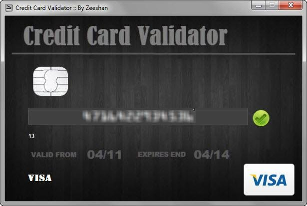 This tool validates if a credit card is valid or not. You can enter the card number either in 4 digit groups or without any spaces. Please note that this tool does not store any of the credit card numbers you enter.