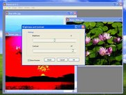 User interface and example of image manipulation