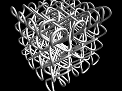 Full 3D knot without colours