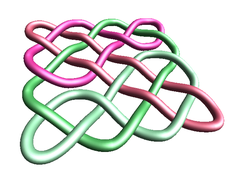 2D knot rendered in 3D.