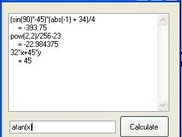 Example Calculator using Ceme