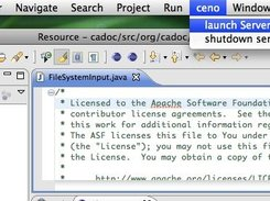 1. Launching a ceno server instance in eclipse