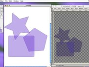 Chlor (left) and the exported document in Gimp (right)