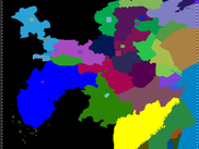 Provinces in China by real position on the map