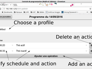 Actions for a specific day window  (in french)