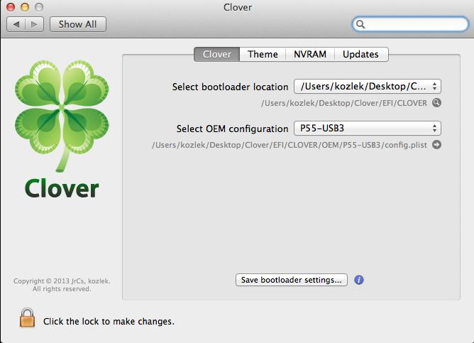 Clover prefPane download | SourceForge net