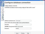 Demo installer - configure database connection