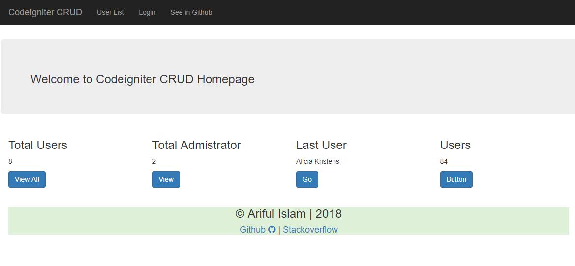 CodeIgniter CRUD download | SourceForge net