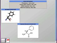 The Analysis Screen (when amino acid is found via wizard)