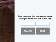 Assign a handy tool-tip label to custom colours