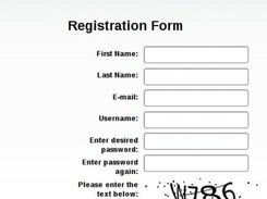 Registration Window for new users