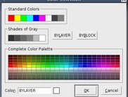 Color selection dialog