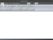 Main windows of Content Editor
