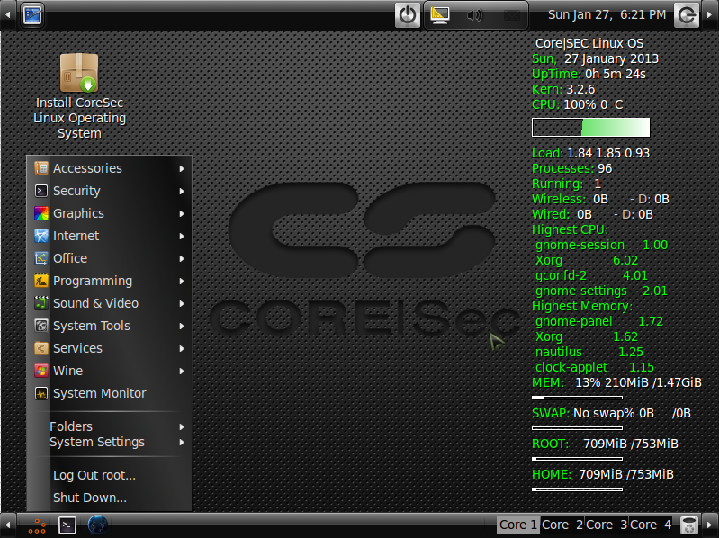 Coresec Linux Operating System Hacore Download Sourceforge Net