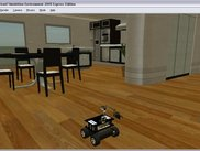 The simulated CoroBot in an apartment environment