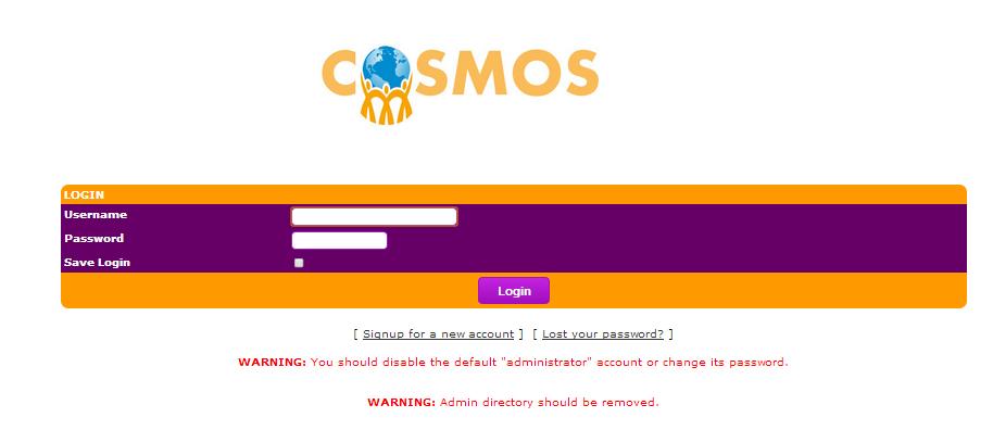 cosmos login