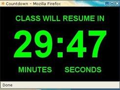 javascript countdown window