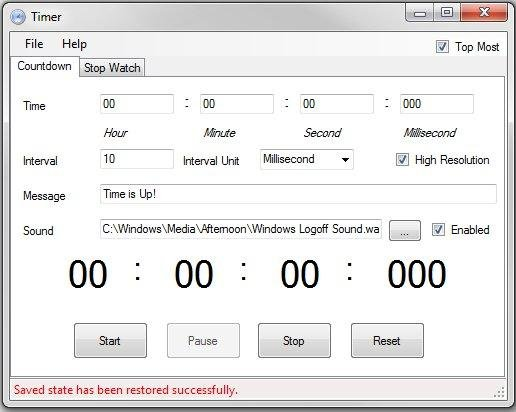 Free Countdown Timer and Stopwatch Timer download | SourceForge net