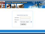 Courier Management System - Admin Login