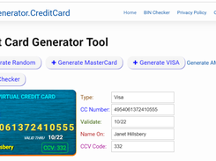 Credit Card Generator download | SourceForge net