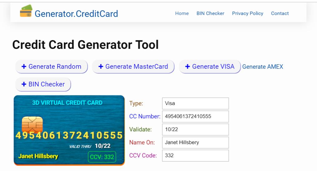 Credit Card Generator download SourceForge.net