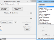 The Playlist viewer and editor