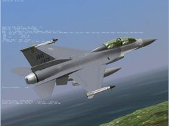 F16DJ with external tanks and Sidewinders