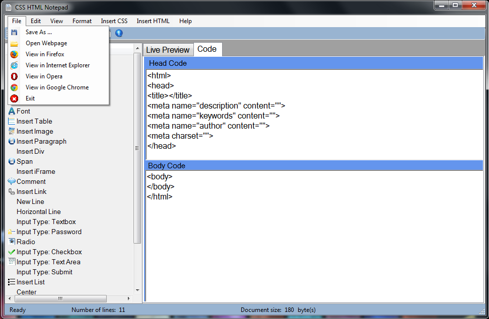 CSS HTML Notepad download | SourceForge net