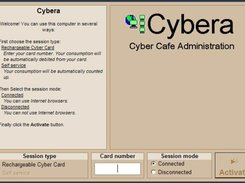 Cybera Client - The blocking screen