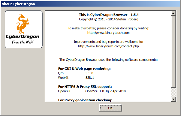 CyberDragon Browser download | SourceForge net