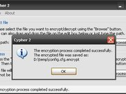 The encryption process has completed successfully