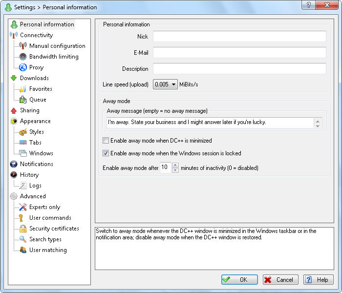 DC++ download | SourceForge net