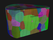 DCT 3D reconstruction of Ti55531 polycrystal