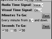 Time signal configuration dialog