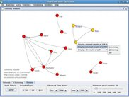 The network can be filtered using different attributes
