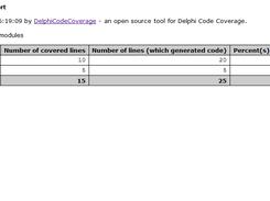 Delphi Code Coverage download | SourceForge net