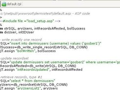 SQL Test using Dermis - default.asp